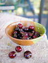 Bowl of Summer Cherries Royalty Free Stock Photo
