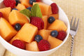 Bowl of summer fruit salad Royalty Free Stock Photo
