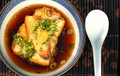 Bowl of tofu and miso broth soup Royalty Free Stock Photography