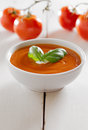 Bowl of tomato soup. Stock Photography
