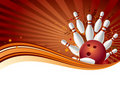 bowling background Royalty Free Stock Photo