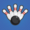 Bowling background. Royalty Free Stock Images