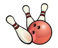 Bowling ball pins no transparencies used Stock Photo