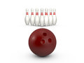 Bowling Ball Ready to Hit Royalty Free Stock Photo