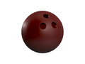 Bowling ball red isolated on white background Stock Photo
