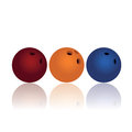 Bowling ball on white background Royalty Free Stock Image