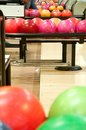 Bowling balls at the alley play sport Stock Photography