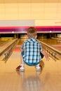 Bowling boy Royalty Free Stock Photo