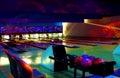 Bowling cósmico Foto de archivo libre de regalías