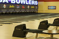 bowling lanes Royalty Free Stock Photo