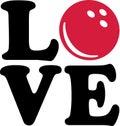 Bowling Love Ball Royalty Free Stock Photo