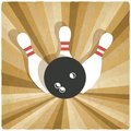 Bowling old background Royalty Free Stock Photo