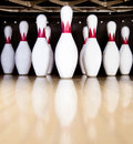 Bowling pins Royalty Free Stock Photo