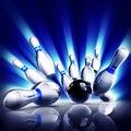 Bowling pins Royalty Free Stock Photo