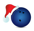 Bowling santa cap illustration design over a white background Stock Photo