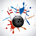 Bowling splash over gray background vector illustration Royalty Free Stock Image