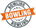 Bowling stamp Royalty Free Stock Photo