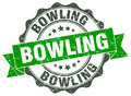 Bowling stamp. sign. seal Royalty Free Stock Photo