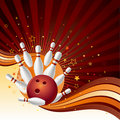 Bowling strike background Royalty Free Stock Photo