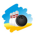 Bowling symbol Royalty Free Stock Photography
