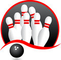 Bowling vector illustration of logo Stock Photography