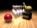 Bowling winner Royalty Free Stock Photo