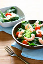 Bowls of fresh prawn salad Royalty Free Stock Photo