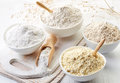 Bowls of gluten free flour Royalty Free Stock Photo