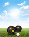 Bowls On Lawn Royalty Free Stock Photo