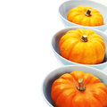 Bowls with pumpkins Royalty Free Stock Photography
