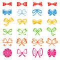 Bows colored icons on white background Royalty Free Stock Image