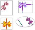Bows four options clearance boxes with Royalty Free Stock Images