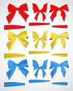 Bows and ribbons collection of design element Stock Photo