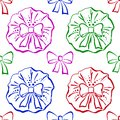 Bows, seamless pattern Royalty Free Stock Photos