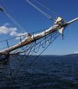 Bowsprit and forward section of tall ship near kirkland washington Royalty Free Stock Images