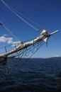 Bowsprit and forward section of tall ship near kirkland washington Royalty Free Stock Photos