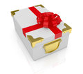 Box with bow and ribbon Stock Photography