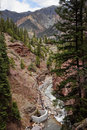 Box Canyon, Ouray Colorado Stock Photo