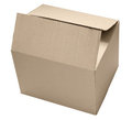 Box carton isolated Stock Image