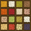 Box of cereals and legumes Royalty Free Stock Photo