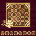Box of chocolates with a ribbon Royalty Free Stock Photography