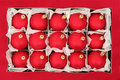 Box of Christmas Ornaments Stock Photo