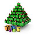 Box - Christmas Tree Stock Photography