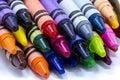 Box of Colorful Crayons Royalty Free Stock Photo