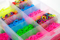 Box Of Colorful Rubber For Wea...