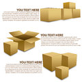 Box compose object vector for business and Stock Images