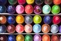 Box of Crayons Top View Royalty Free Stock Photo