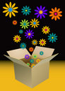 Box of flowers Royalty Free Stock Images