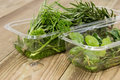 Box with fresh Herbs Royalty Free Stock Image