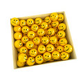 Box full of smilies in different moods, Royalty Free Stock Photos